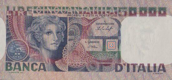 50.000 Lire 20.6.1977 Italien Pick 107a FDC