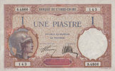French Indo China 1 Piastre  unc