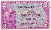 2 Mark 1948 Bank Deutscher Länder  kassenfrisch  350,00 EUR  +  6,50 EUR shipping