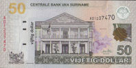 Suriname 50 Dollars