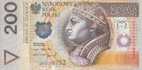 200 Zlotych 25.3.1994/95 Polen P.177a unc/kassenfrisch  100,00 EUR