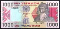 1.000 Leones  Sierra Leone Pick 20a unc/kassenfrisch  7,50 EUR  +  6,50 EUR shipping