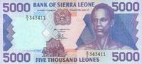 5.000 Leones  Sierra Leone Pick 21a unc/kassenfrisch  20,00 EUR  zzgl. 3,95 EUR Versand