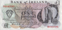 Bank of Irland 1 Pound ND(1980) unc
