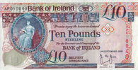 Bank of Irland 10 Pounds 05.9.2000 unc 