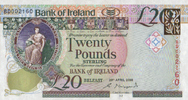 20 Pounds 20.4.2008 Bank of Irland Pick 85 unc  58,00 EUR  zzgl. 4,50 EUR Versand