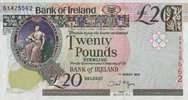20 Pounds 01.3.2005 Bank of Irland Pick 80b unc/kassenfrisch  95,00 EUR  +  6,50 EUR shipping