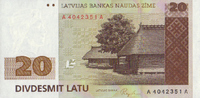 20 Latu 1992 Lettland Pick 45 unc  66,00 EUR