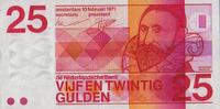 25 Gulden 10.2.1971 Niederlande Pick 92b unc  89,00 EUR  +  6,50 EUR shipping