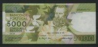 5.000 Escudos 18.3.1993 Portugal Pick 184e unc/kassenfrisch  75,00 EUR  +  6,50 EUR shipping