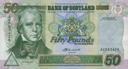 50 Pounds 24.9.2004 Bank of Scotland Pick 122d unc  170,00 EUR  zzgl. 4,50 EUR Versand