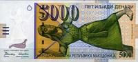 5.000 Denari  Mazedonien Pick 19a unc/kassenfrisch  179,00 EUR  +  6,50 EUR shipping