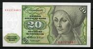 20 Mark 1960 Deutsche Bundesbank Ros.264b 1  70,00 EUR  +  6,50 EUR shipping