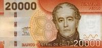 20.000 Pesos 2009 Chile Pick 165a unc  65,00 EUR