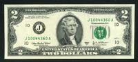2 Dollars Serie 2003 A USA Pick 516b-J unc/kassenfrisch  4,00 EUR