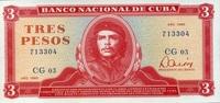 3 Pesos 1985 Cuba Pick 107a unc/kassenfrisch  8,95 EUR  +  6,50 EUR shipping