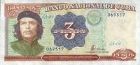 3 Pesos 1995 Cuba Pick 113 unc/kassenfrisch  7,95 EUR  zzgl. 3,95 EUR Versand