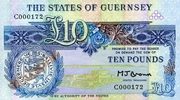 Guernsey 10 Pounds ND(1980) unc