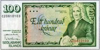 100 Kronur 29.3.1961 Island Pick 50a unc/kassenfrisch  4,50 EUR  +  6,50 EUR shipping
