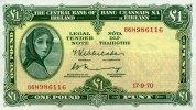 1 Pound 17.9.1970 Irland-Repubilk Pick 64b 1-  60,00 EUR  +  6,50 EUR shipping