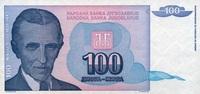 100 Dinara 1994 Jugoslawien Pick 139a unc  0,85 EUR