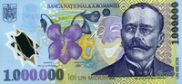 1.000.000 Lei 2003 Rumänien Pick 116-2003 unc  80,00 EUR