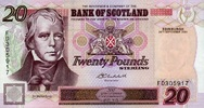 Bank of Scotland 20 Pounds 24.9.2004 unc