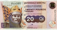 Clydesale Bank  PLC 20 Pounds 12.10.1999 unc  65,00 EUR