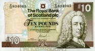10 Pounds 19.9.2006 The Royal Bank of Scotland Pick 353b unc  35,00 EUR  zzgl. 4,50 EUR Versand
