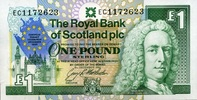1 Pound 08.12.1992 The Royal Bank of Scotland Pick 356a unc/kassenfrisch  9,50 EUR  +  6,50 EUR shipping