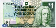 1 Pound 12.5.1999 The Royal Bank of Scotland Pick 360 unc/kassenfrisch  9,50 EUR  zzgl. 3,95 EUR Versand