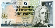 5 Pounds 06.2.2002 The Royal Bank of Scotland Pick 362 unc  35,00 EUR  zzgl. 4,50 EUR Versand
