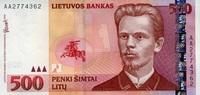 500 Litu 2000 Litauen Pick 64 unc  279,00 EUR  +  6,50 EUR shipping