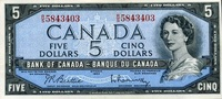 5 Dollars (1961-1972) Canada Pick 77b unc/kassenfrisch  59,00 EUR  +  6,50 EUR shipping
