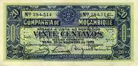 20 Centaves 25.11.1933 Mozambique Pick P.R29 unc/kassenfrisch  4,00 EUR  +  6,50 EUR shipping