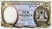 10 Pounds 02.5.1978 The Royal Bank of Scotland Pick 338a unc  260,00 EUR  zzgl. 4,50 EUR Versand