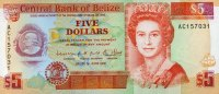 Belize 5 Dollars 01.6.1991 unc  25,95 EUR