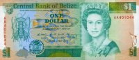 Belize 1 Dollar 01.5.1990 unc  15,95 EUR
