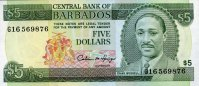 Barbados 5 Dollars ND(1975) unc  31,50 EUR