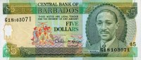 Barbados 5 Dollars ND(1996) unc  13,50 EUR