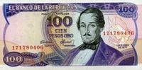 Kolumbien 100 Pesos Pick 418a