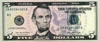 5 Dollars 2006 USA - New York - unc/kassenfrisch  9,50 EUR  +  6,50 EUR shipping