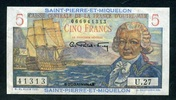 Saint Pierre Miquelon 5 Francs ND(1950-60)...