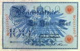 Reichsbanknote 1908 100 Mark