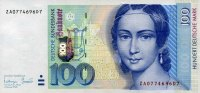 Deutsche Bundesbank 100 Mark 1996 unc/kassenfrisch  125,00 EUR