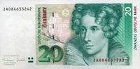 20 Mark 01.10.1993 Deutsche Bundesbank Ros.304b unc/kassenfrisch  42,00 EUR  +  6,50 EUR shipping