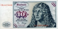 10 Mark 02.1.1980 Deutsche Bundesbank Ros.286a unc/kassenfrisch  15,00 EUR