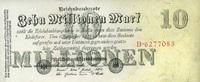 10 Mio. Mark 25.7.1923 Geldscheine der Inflation 1919-1924 Ros.95 unc/k... 13,00 EUR  zzgl. 3,95 EUR Versand