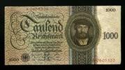 1.000 Reichsmark 11.10.1924 Deutsche Reichsbank Ros.172a 1-  345,00 EUR  zzgl. 4,50 EUR Versand