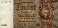 1.000 Reichsmark 22.2.1936 Deutsche Reichsbank  unc/kassenfrisch  195,00 EUR  +  6,50 EUR shipping